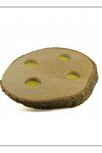 Ağaç 4 lü Mumluk